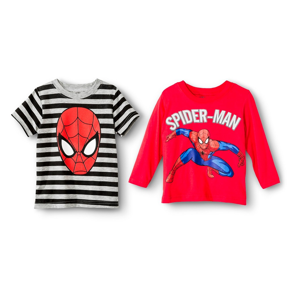 Toddler Boys' Spiderman Long Sleeve T-Shirt - Red 3T, Toddler Boy's