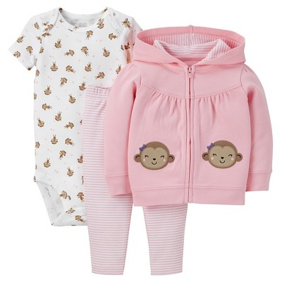 Just One You™Made by Carter's®  Newborn Girls' 3 Piece Sets - Pink 3M