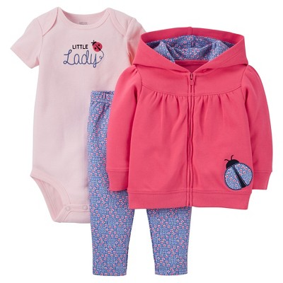 Just One You™Made by Carter's®  Newborn Girls' 3 Piece Sets - Pink/Purple 3M
