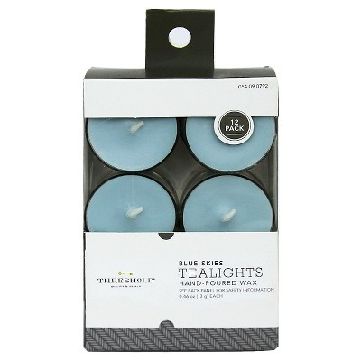 Threshold™ Tealights Core - Light Blue (12pk)