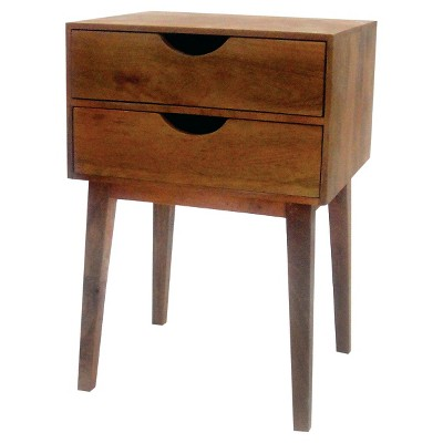 Threshold Mid-Centuray Two-Drawer Accent Table