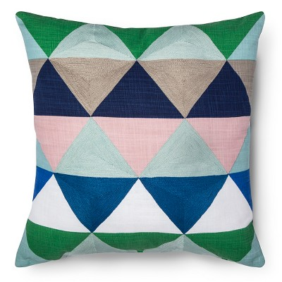 Room Essentials™ Embroidered Triangle Decorative Pillow - Blue