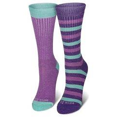 Girls' 2-Pack Crew Socks - Purple