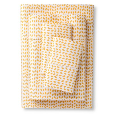 Herringbone Sheet Set Yellow (Full) - Sabrina Soto™