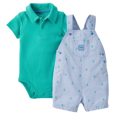 Just One You™Made by Carter's®  Newborn Boys' Shortall - Blue/Green 3M