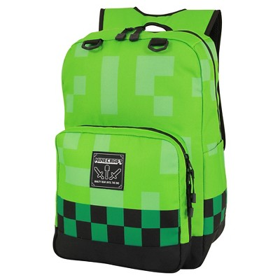 "Minecraft 18.5"" Creeper Kids Backpack - Green"
