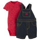 Just One You™Made by Carter's®  Newborn Boys' Firetruck Shortall - Denim/Red