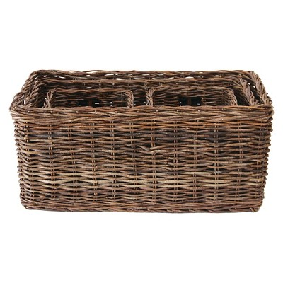 "Vine Rope Weave Baskets, Natural (30-1/4""L )"