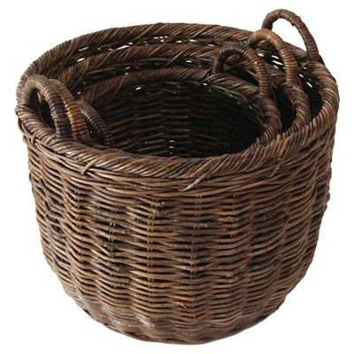 "Vine Rope Oval Baskets - Natural (19""L)"
