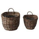 """Vine Rope Weave Hanging Baskets - Natural (14-1/2""""H )"""