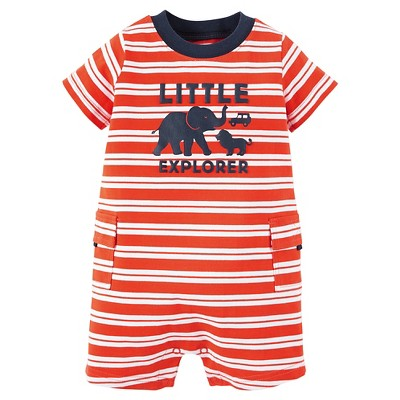 Just One You™ Made by Carter's® Newborn Boys' Romper - Orange & White 3M