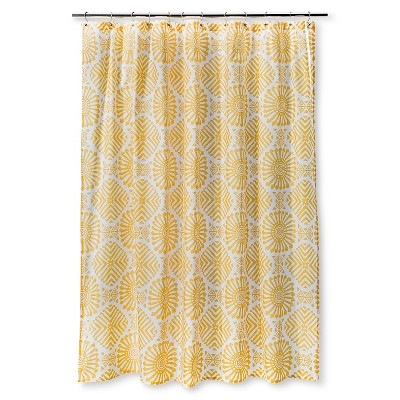 Shower Curtain Sabrina Soto Medallion White Yellow