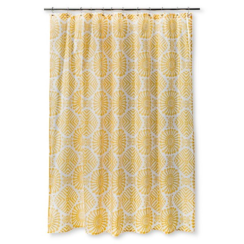 Shower Curtain Sabrina Soto Medallion White Yellow Target