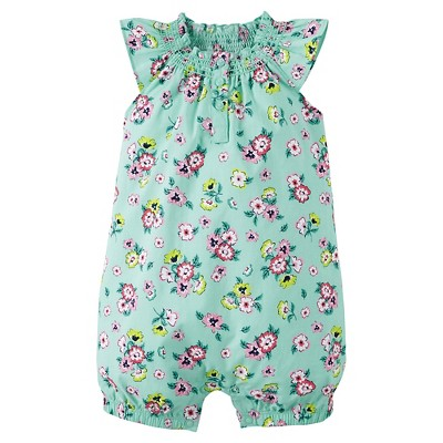 Just One You™ Made by Carter's® Newborn Girls' Romper - Green NB