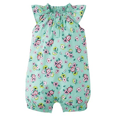 Just One You™ Made by Carter's® Newborn Girls' Romper - Green 6M