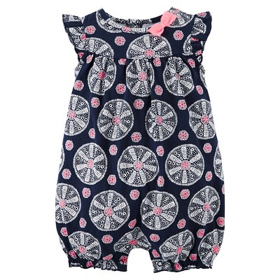 Just One You™ Made by Carter's® Newborn Girls' Romper - Navy & Pink NB
