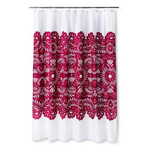 shower curtain sabrina soto lace white rasberry target