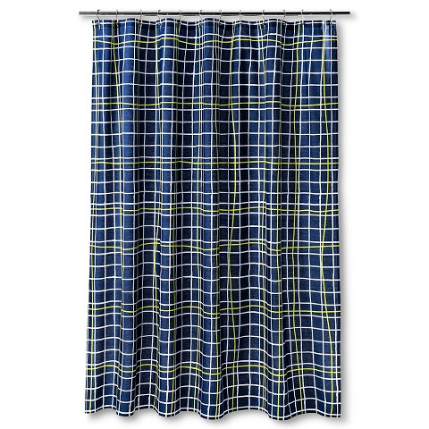 Where To Buy Window Curtains Navy and Light Blue Shower C