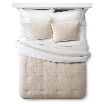 Diamond Geo Comforter Set (King) Sandalwood 3pc - Room Essentials™