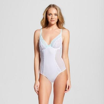 Women's Lace Teddy Lingerie True White L - Gilligan & O'Malley™