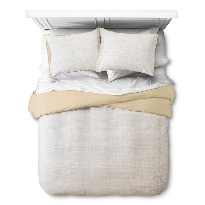 Linework Texture Duvet Set - Sandalwood - Room Essentials™