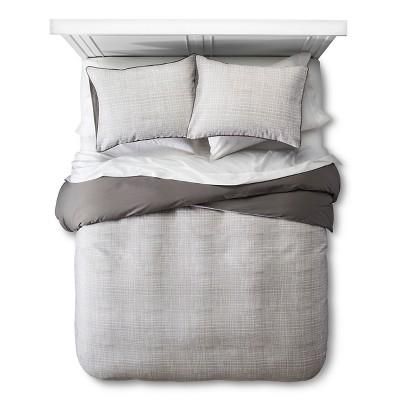 Linework Texture  Duvet Set - Gray