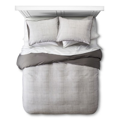 Linework Texture  Duvet Set - Gray - Room Essentials™