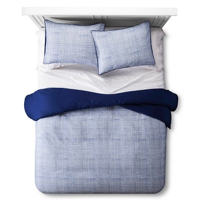 Linework Texture Duvet Set - Blue - Room Essentials™