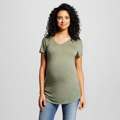 Women's Maternity  T-Shirt Green -  M - Liz Lange For Target