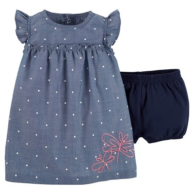 Just One You™ Made by Carter's® Newborn Girls' Sundress - Chambray & Navy 9M