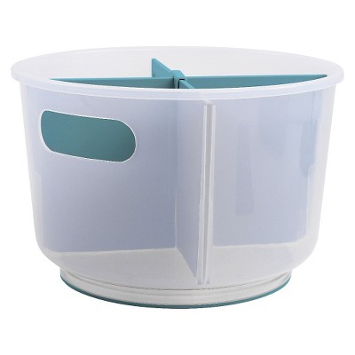 Turn-It Utility Storage Bin Aqua madesmart
