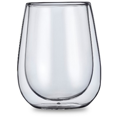 Casa Bellante 10oz Double-wall Stemless Wine Glass - Set of 4
