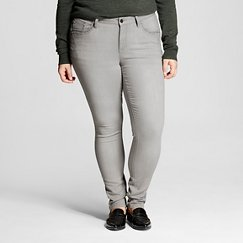 Women's Plus Size Grey Denim Wash Skinny Jean 18W - Earl Jeans