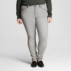 Women's Plus Size Grey Denim Wash Skinny Jean 24W - Earl Jeans