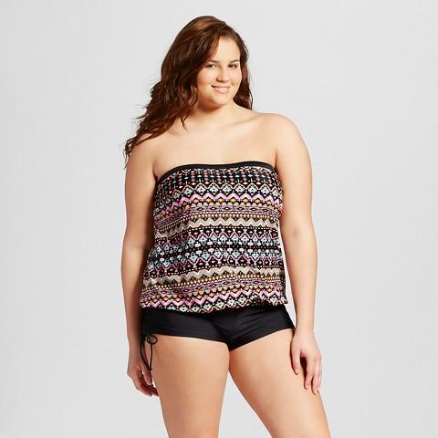 blouson tankini top plus size - blouse styles