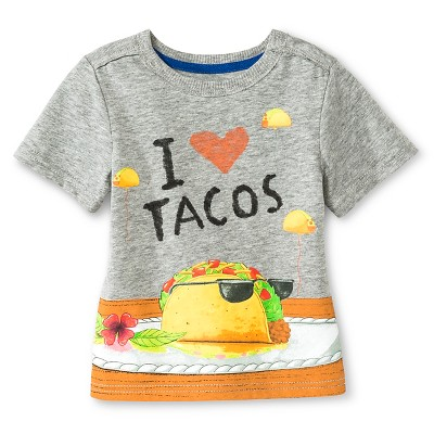 Baby Boys' Dragons Love Tacos Tee Shirt  - Gray 12 M - Genuine Kids from Oshkosh™