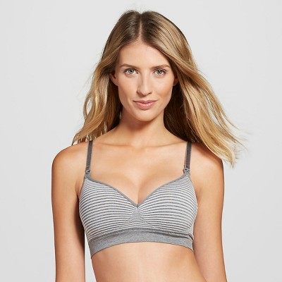 Women's Nursing Seamless Bra Gray Space L - Gilligan & O'Malley®