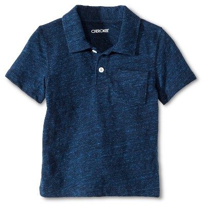 Toddler Boys' Polo Shirt Blue 12M - Cherokee®