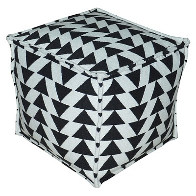 16 X 16 X 14 Inch Black/white Pouf