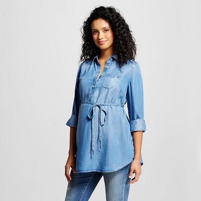 Maternity TENCEL® Tunic - Medium Wash S - Liz Lange® for Target