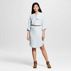 Women's Light Wash Denim Shirt Dress - Merona™