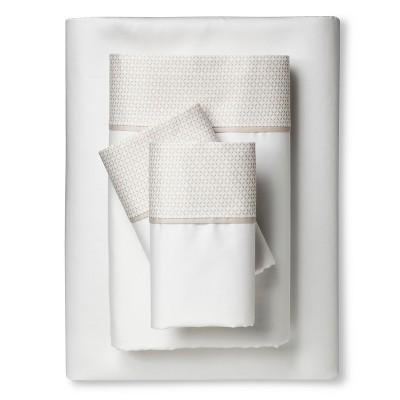 Performance Sheet Set - Brown Linen Hem (Queen) - Threshold™