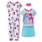 My Little Pony Girls' 4-Piece Pajama Set - Multicolored