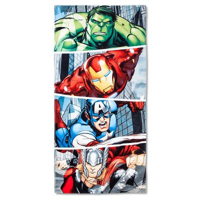 License Avengers Beach Towel