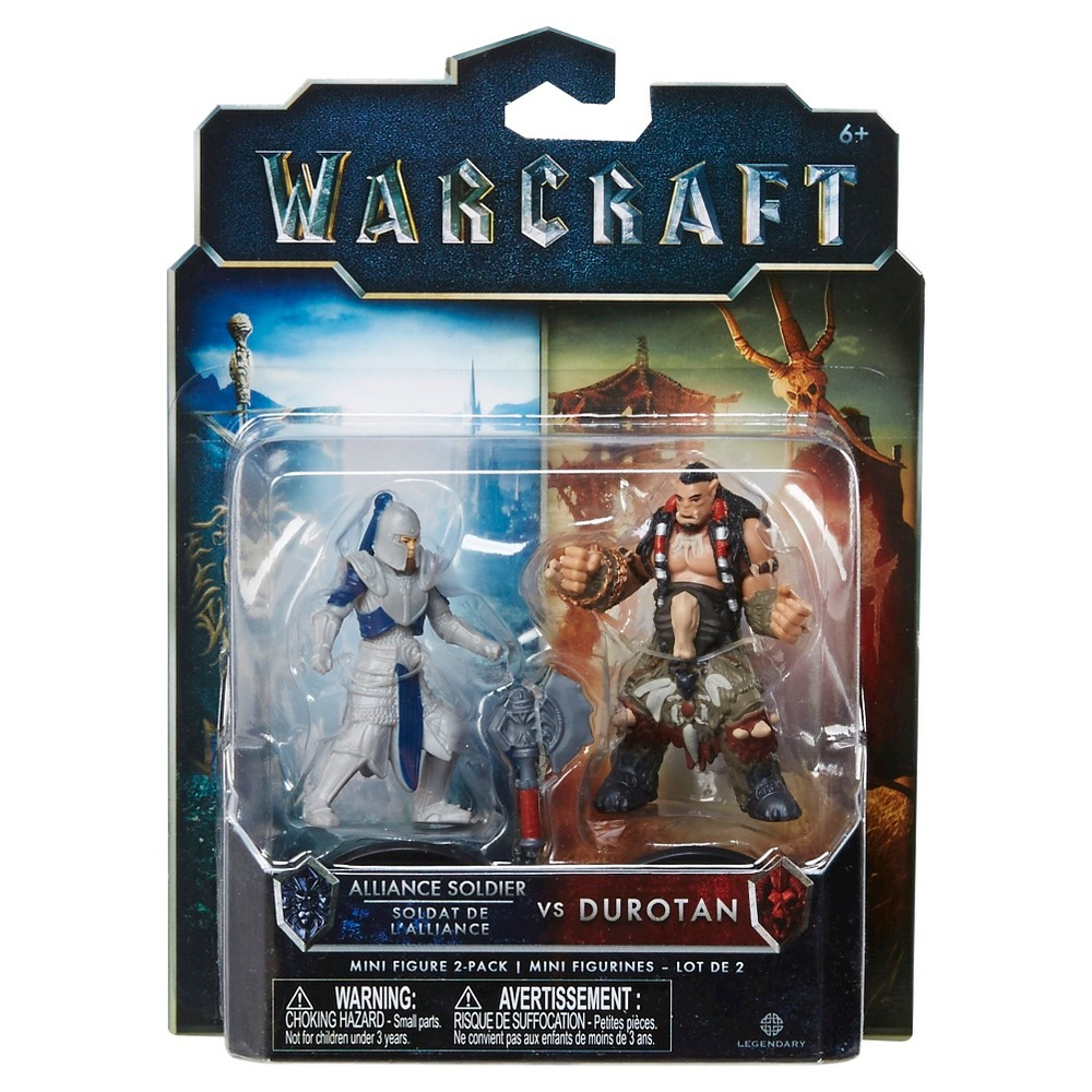 World of Warcraft Alliance Soldier vs Durotan Mini Figure 2-Pack