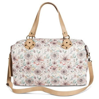 Women's Floral Weekender Handbag Pink - Mossimo Supply Co