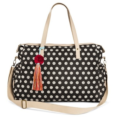 Women's Polka Dot Weekender Handbag Black - Mossimo Supply Co