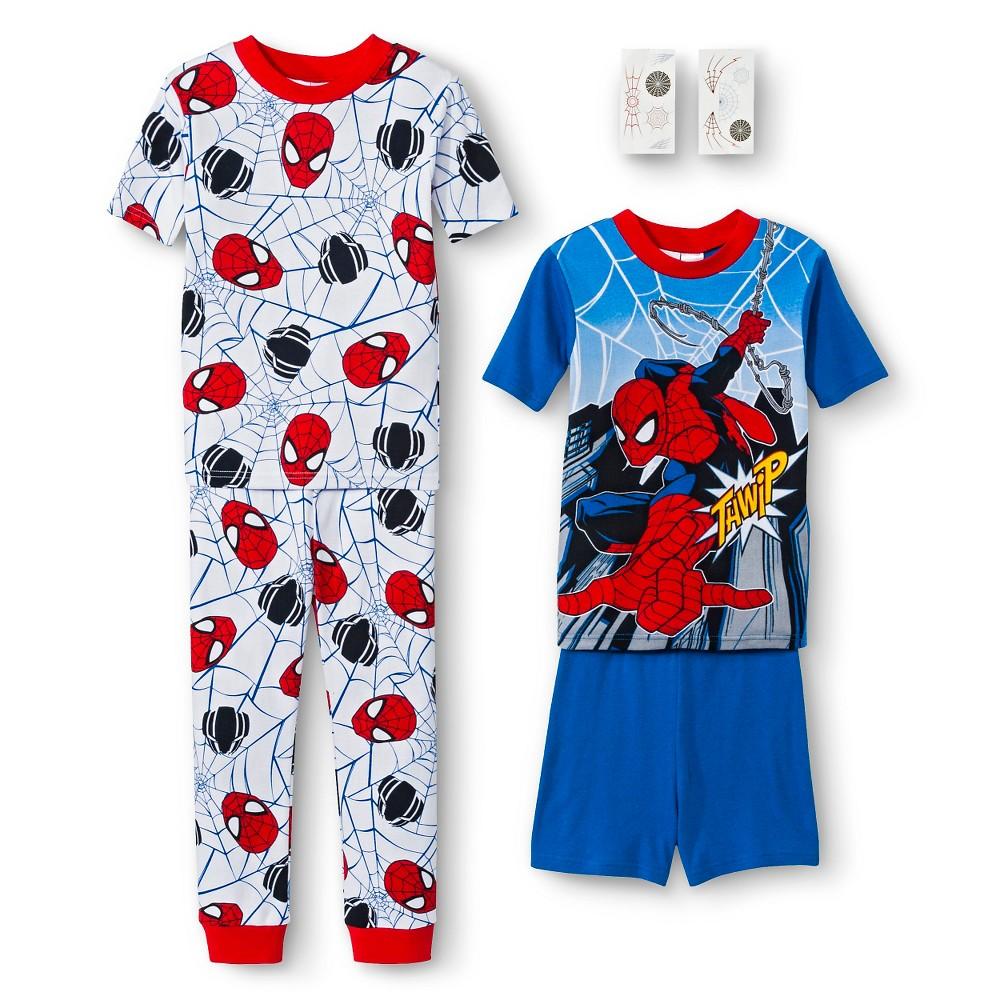Spiderman Boys' 4-Piece Pajama Set - Multicolored 10, Boy's, Multi-Colored