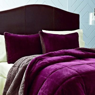 Eddie Bauer Premium Fleece Comforter Mini Set - Beet (Full/Queen)