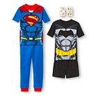 Boys' Batman vs. Superman Dawn of Justice 4-Piece Pajama Set- Multicolored